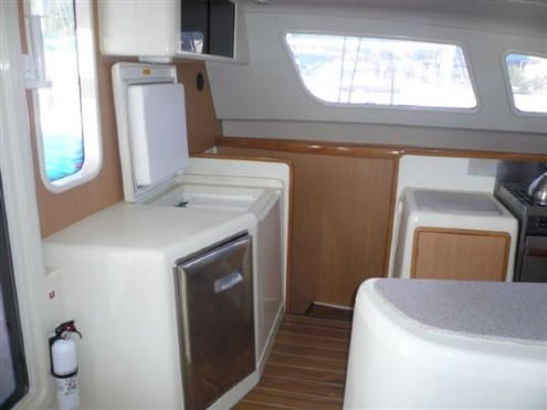 Preowned Sail Catamarans for Sale 2005 Leopard 47 Layout & Accommodations